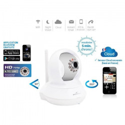 Bluestork Caméra Cloud HD motorisée d`intérieur Wi