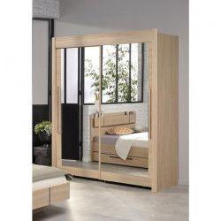GALA Rangement coulissant contemporain décor chene brooklyn - L 157 cm