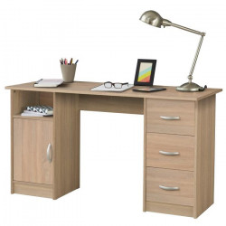 ESSENTIELLE Bureau contemporain décor chene blond - L 135 cm
