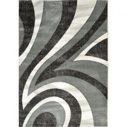 BAHIA Tapis de salon 200x290 cm gris, noir et blanc