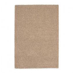 TRENDY Tapis de salon Shaggy en polypropylene - 200 x 280 cm - Beige