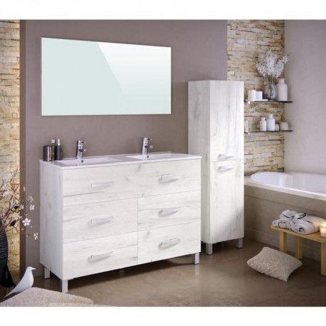 STELLA Ensemble salle de bain double vasque avec miroir