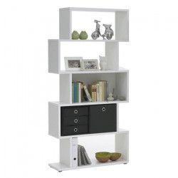 KUBI Bibliotheque contemporain blanc mat - L 84 cm