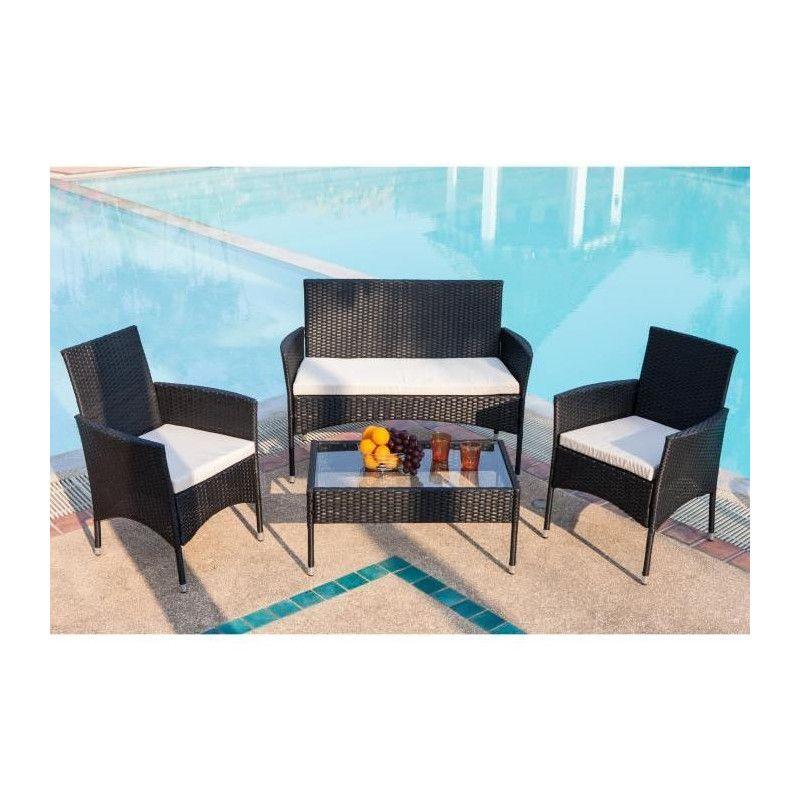 Salon de jardin Rio 1 table basse, 2 fauteuils et 1