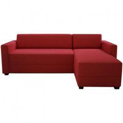 FINLANDEK Canapé d`angle réversible convertible KULMA 3 places - Tissu rouge - Contemporain - L 208 x P 147 cm