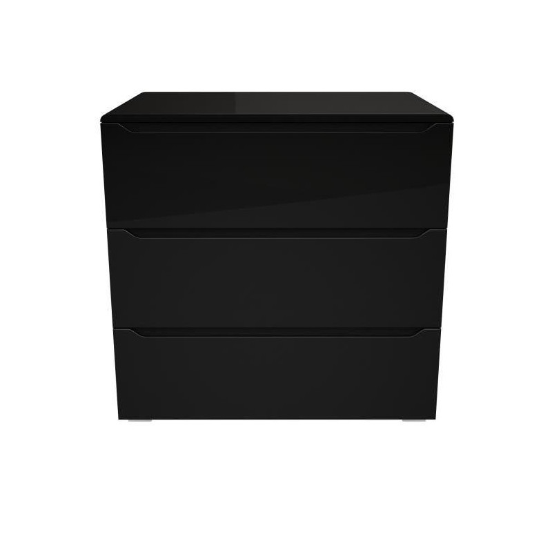 urbano commode de chambre contemporaine laqu noir. Black Bedroom Furniture Sets. Home Design Ideas