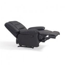 VOLUPTO Fauteuil de relaxation en simili Noir - Contemporain - P 85 cm