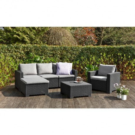 moorea salon de jardin 4 pieces aspect rotin tress. Black Bedroom Furniture Sets. Home Design Ideas
