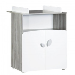 BABY PRICE New Leaf Commode a Langer 2 Tiroirs + 1 Grande Niche