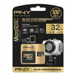 PNY Elite Performance Carte Mémoire Micro SDHC 32 Go