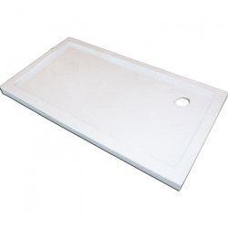 AQUA+ Receveur de douche rectangulaire a poser Yqua - 120 x 80 x 5 cm - Acrylique - Blanc