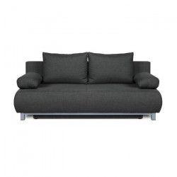 SHILO Banquette convertible 3 places - Tissu gris - Style contemporain - L 192 x P 93 cm