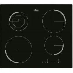 FAURE F6204IOK Table de cuisson Induction - 4 zones - 6600W - L59 x P52cm - Revetement verre - Noir