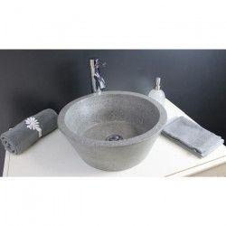 Vasque en terrazzo Bloom gris