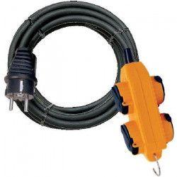 BRENNENSTUHL Rallonge électrique de chantier Powerblock 4 prises avec clapets 10m IP44