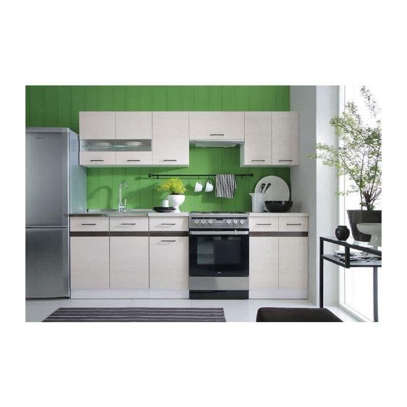 junona cuisine complete avec clairage led et plan de. Black Bedroom Furniture Sets. Home Design Ideas