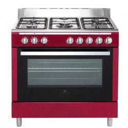 CONTINENTAL EDISON CECP9060MBX-Cuisiniere table Gaz- 5 foyers-3000W- Four electrique-