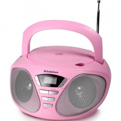 AUDIOSONIC CD-1567 Radio stéréo CD Rose