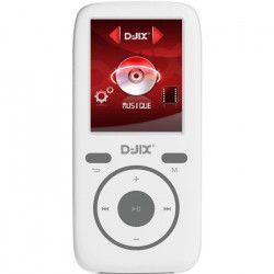 D-JIX M439 Lecteur MP4 sans mémoire interne - Micro SD - Blanc