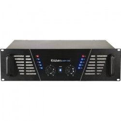 IBIZA AMP1000 Amplificateur de sonorisation 2 x 800W - Noir