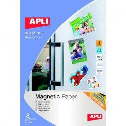 APLI Pochette de 8 Feuilles de Papier magnétique