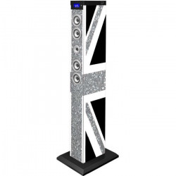BIGBEN TW9GBGLITTER Tour de son multimédia Bluetooth - 60W - Great Britain glitter