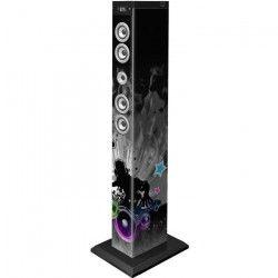 BIGBEN TW9DJLIGHT3 Tour de son multimédia Bluetooth avec LED bleues, roses et blanches - 60W - Motif DJ