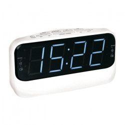 CLIPSONIC AR316W Radio réveil AM FM PLL - Blanc
