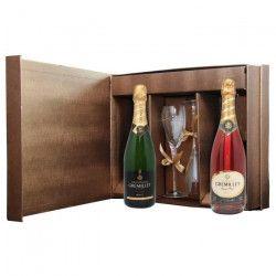 Coffret Tete a Tete - 2 flûtes - Champagne Gremillet Brut - Champagne Gremillet Brut Rosé - 2x75cl