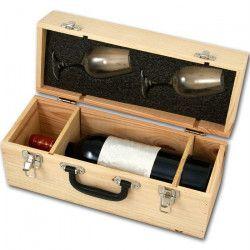 Valise Vin avec Magnum + 2 verres
