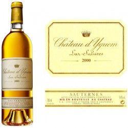 Château d`Yquem Sauternes 1er Cru Classé 2000 - Vin blanc