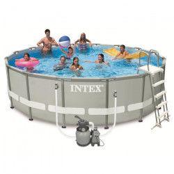 INTEX Kit Piscine ronde tubulaire Ø4,88x H1,22m