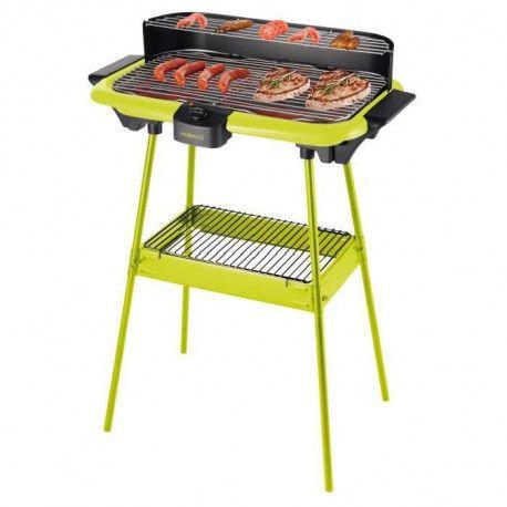 domoclip dom297v barbecue lectrique sur pieds vert. Black Bedroom Furniture Sets. Home Design Ideas