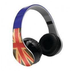 LEXIBOOK - Design UK - Casque Audio Enfant Bluetooth