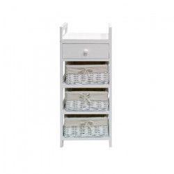 FIRENZA Petit meuble de salle de bain L 30 cm - Laqué blanc brillant