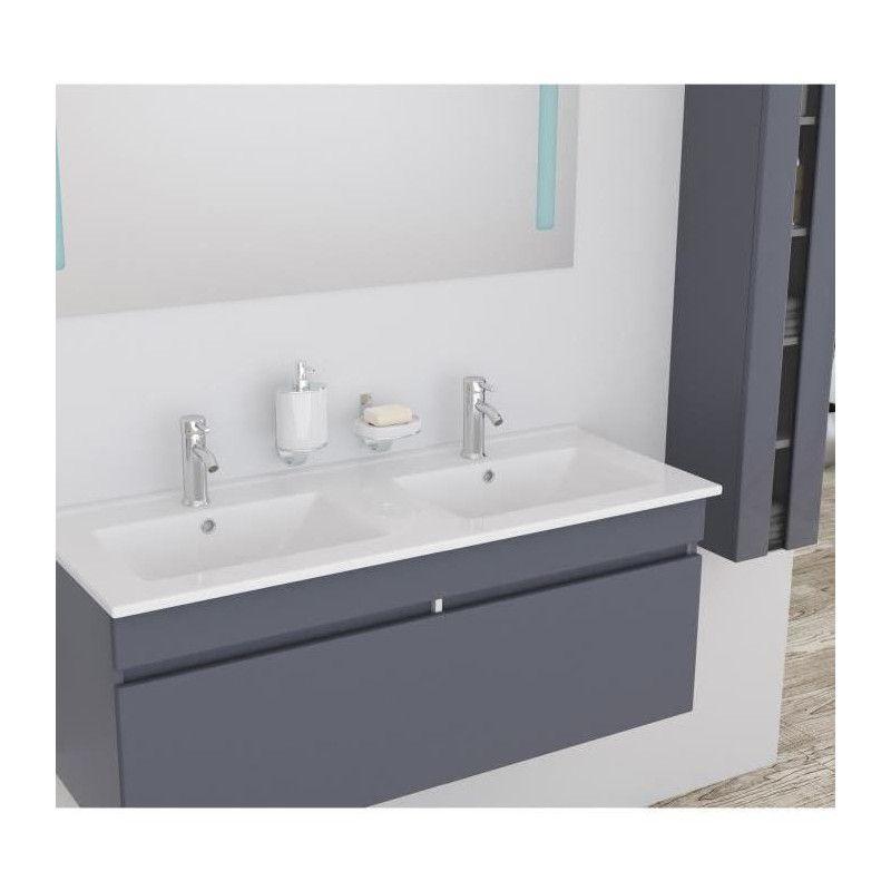alban ensemble salle de bain double vasque avec miroir. Black Bedroom Furniture Sets. Home Design Ideas