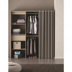 CHICAGO Kit dressing extensible contemporain décor chene brossé - L 114 -168 cm
