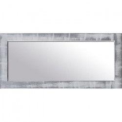 NAPLES Miroir pin 42x92 cm Argenté et blanc