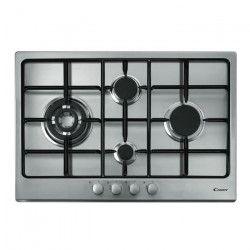 CANDY CTG1047X - Table de cuisson Gaz - 4 foyers - 9250W - L75 x P51cm - Revetement inox - Coloris Inox