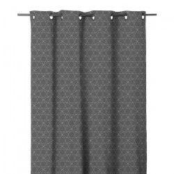 Rideau imprimé en étamine Graphique 140x280 cm anthracite