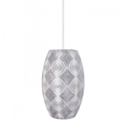Lustre - suspension polyester décor ikat Pow-How Ø15,5 cm E27 60W noir