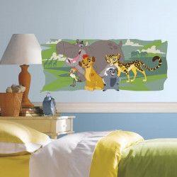 LE ROI LION Sticker Chambre enfant en Vinyle Repositionnable 40x98cm