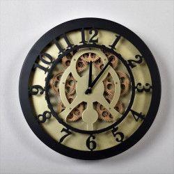 CLOCK Horloge métal Mécanisme mouvement - Ø 40x7cm