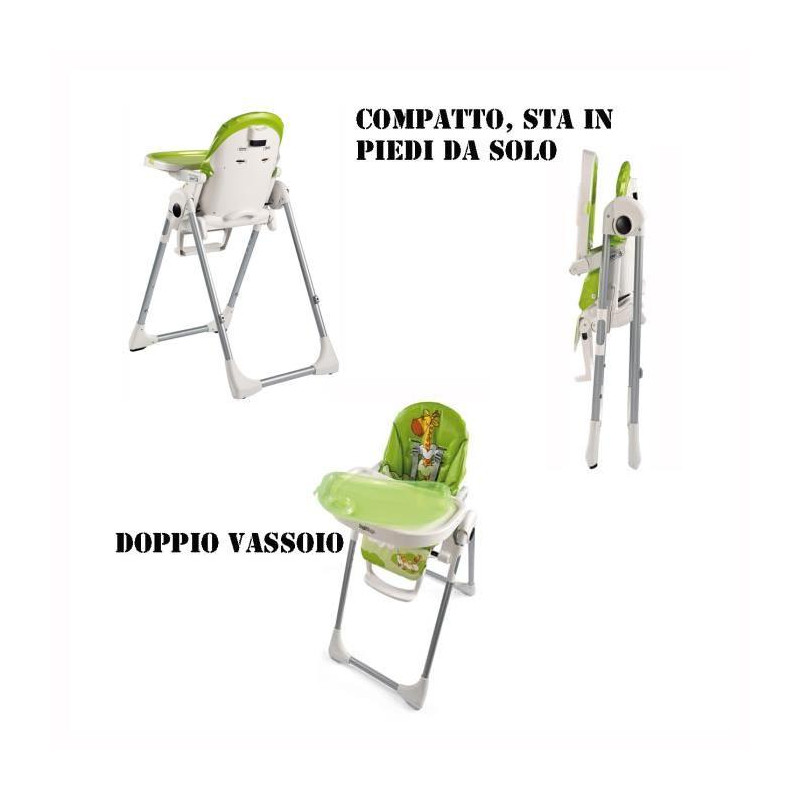 Coccinelle Perego Peg Zero3 Chaise Haute Nnm80vw