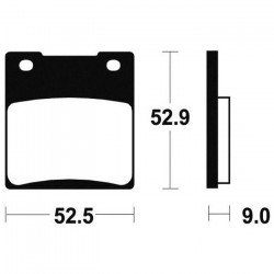 BENDIX Plaquettes de frein moto MR56 - Métal fritté