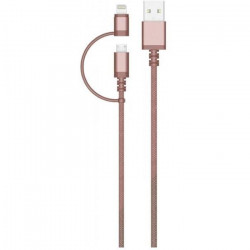 COLORBLOCK Câble USB / Micro USB / Lightning 2m - Rose Doré
