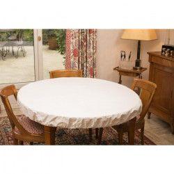 CORYL Housse protege table - Ø 155 cm - Blanc