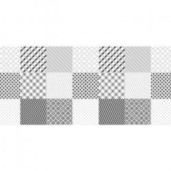 CORYL Nappe MATISSE ovale - 160x240 cm - Noir & blanc