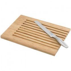 JEAN DUBOST Planche a découper en bambou + couteau a pain - Inox