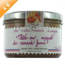 Lot de 6 Pâtés au Magret de Canard Fumé 220g LUCIEN GEORGELIN